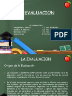Presentation the Evaluation