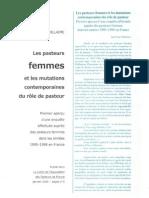 J-P WILLAIME Pasteurs Femmes (Janv 2000)