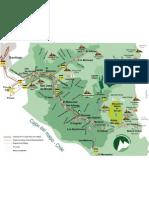 Mapa Cajon Del Maipo