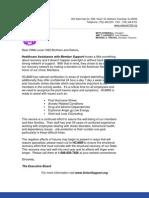 HCAMS Hurricane Assistance Letter