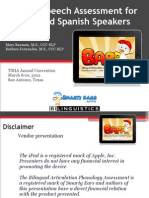 An iPad Speech Assessment for English and Spanish Speakers