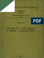 Šefik Bešlagić - Nišani XV i XVI vijeka u Bosni i Hercegovini