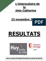 Résultats Cross Sainte-Catherine 2012(1)
