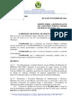 Decreto 230-2010 - Homologação do Concurso