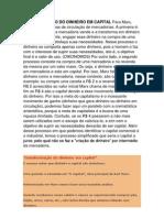 TRANFORMAÇÃO DO DINHEIRO EM CAPITAL