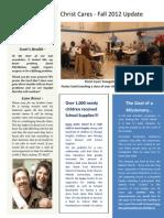 Christ Cares Fall Newsletter 2912, pg 1