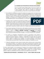Comunicado Público sobre Congreso Privadas -FEST-