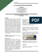 Sintesis y Analisis de Una Sal de Mohr Lu y Pdr