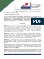 Reglamento Del Regimen de Participacion Ciudadana en El Municipio de Centro