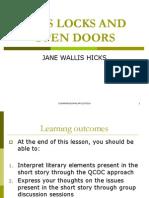 Keys Locks and Open Doors