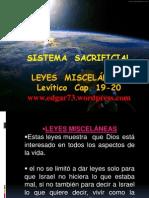 Leyes Miscelaneas Sistema Sacrificial
