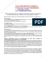SUPER-KEYS FOR DISTINGUISHING VARIOUS TYPES OF FALSE-PROPHETS.