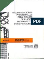 Recomendaciones Provisionales Para Dibujos de Planos en Proyectos de Edificaciones