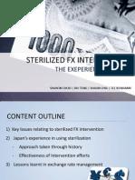 (Topic 6) Japan's Sterilized FX Intervention