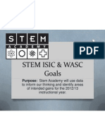 stem isic  wasc goals