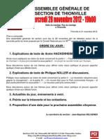 2012.11.21 - Convocation AG Du 28 Novembre