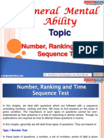 General Mental Ability Number Ranking Time Sequence Test