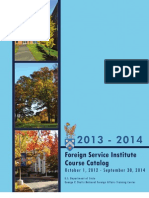 Foreign Service Institute Course Catalog 2013-14