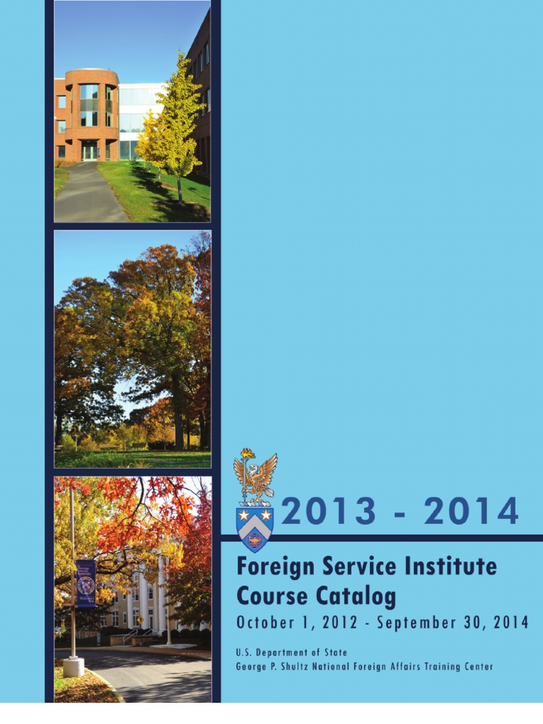 Foreign Service Institute Course Catalog 2013-14   United States ...