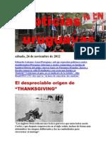 Noticias Uruguayas sábado 24 de noviembre del 2012
