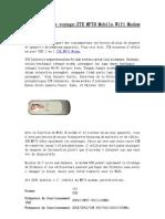Partenaire de VoyageZTE MF70 Mobile Wifi Modem