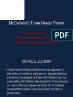 McClelland's Three Needs Theory