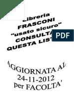 Elenco Libri Usati.24112012 Facolta'PDF