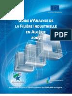 Guide dAnalyse de La Filiere Industrielle en Algerie-2007