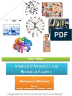 A Course on Medical Informatics and Research Analysis
