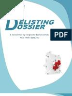 Corporate Professionals_ Delisting Dossier_June 2012
