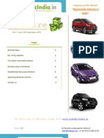 Corporate Professionals Automobile Industry EbizWire September 2012