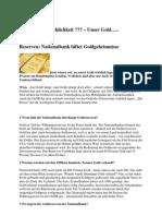 Nationalbank lüftet Goldgeheimnisse