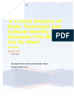 'A Critical Analysis of Style, Technique and Cultural Identity in the Ghanaian Film Musical Coz Ov Moni'