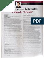 "Esteróides Anabolizantes - A Saga do ""Firmeza"" - Revista M&F - Dr. Lucas Caseri Câmara"
