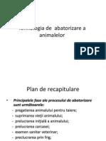 Tehnologia de Abatorizare a Animalelor
