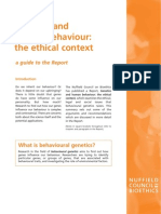 Ethics in Behavioral Genetics
