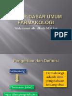 (1.1) PENGANTAR FARMAKOLOGI