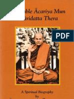 Venerable Acariya Mun Bhuridatta Thera - A Spiritual Biography