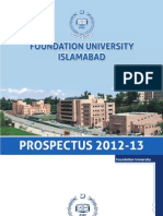 Foundation University Prospectus 2012