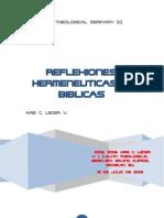 Arie C. Leder v. - Reflexiones Hermeneuticas & Biblicas