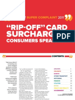 Credit Card fees and surcharge Rip-Offs in the UK. Consumer stories