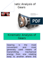 Kinematic Analysis of Gears
