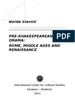 Pre-shakespearean Drama - Final