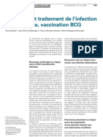 Dépistage Et Traitement De L'Infection Tuberculeuse, Vaccination BCG