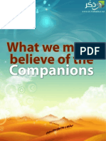 What We Must Believe of the Companions