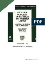Ribla 1 - Lectura Popular de La Biblia en America Latina - Una Hermeneutica de La Liberacion
