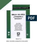 RIBLA 12 - BIBLIA 500 AÑOS CONQUISTA O INCLUSION