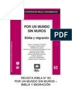 Ribla 63 - Por Un Mundo Sin Muros Biblia y Migracion