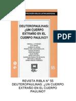 RIBLA  55 - DEUTEROPAULINAS UN CUERPO EXTRAÑO EN EL CUERPO PAULINO