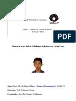 Relatorio Das Leis de Lenz e Faraday
